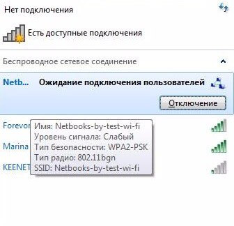 сети wifi между ноутбуками